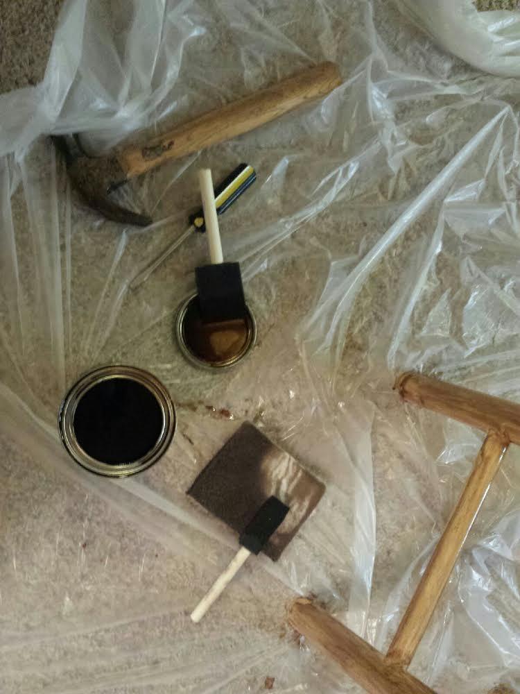 staining_barstools. www.thislittlespace.com