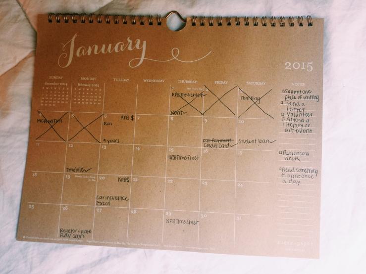 Calendar. www.thislittlespace.com